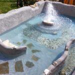 bio fontana con giochi d'acqua