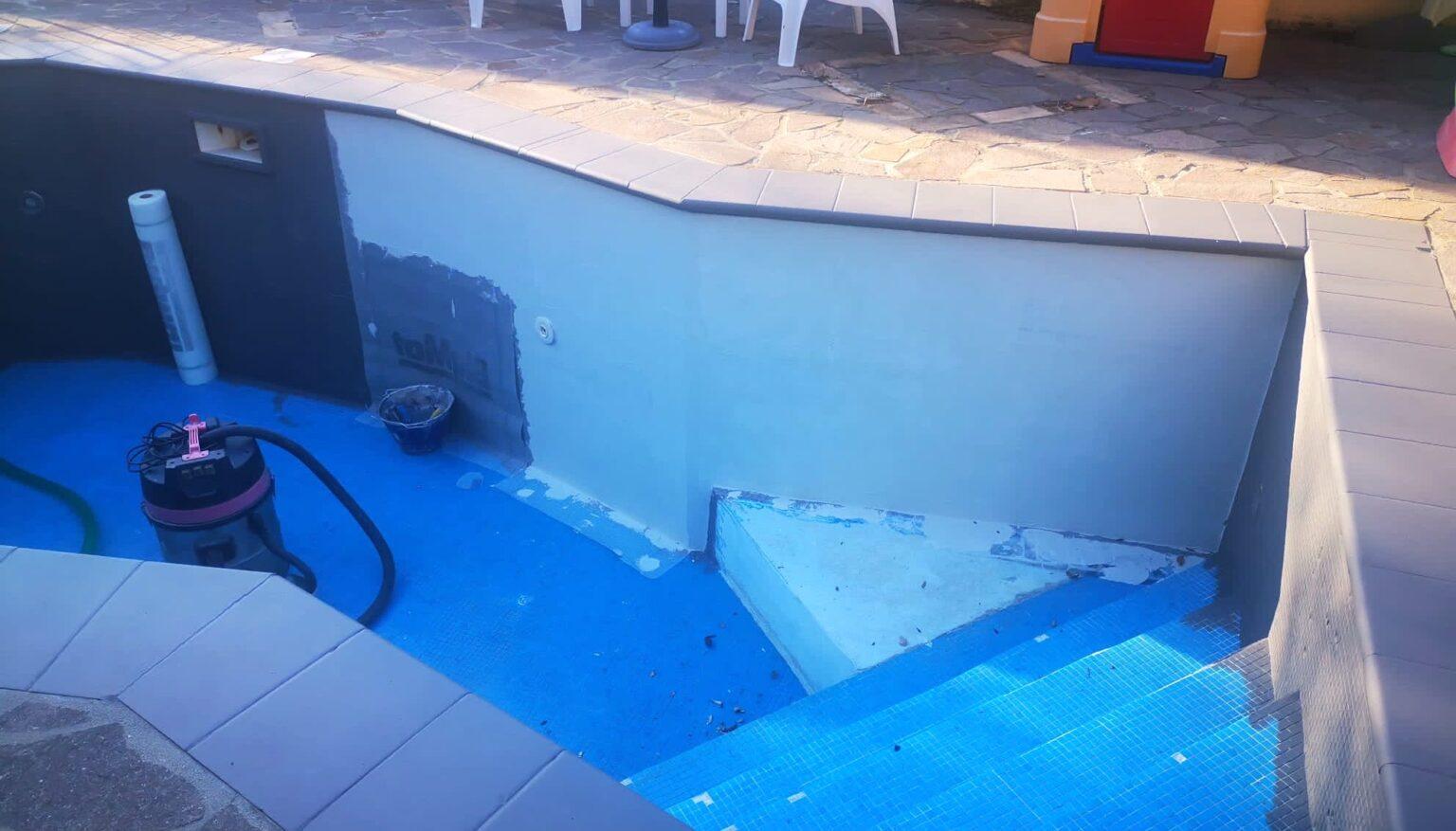 ripristino vecchia piscina con resine