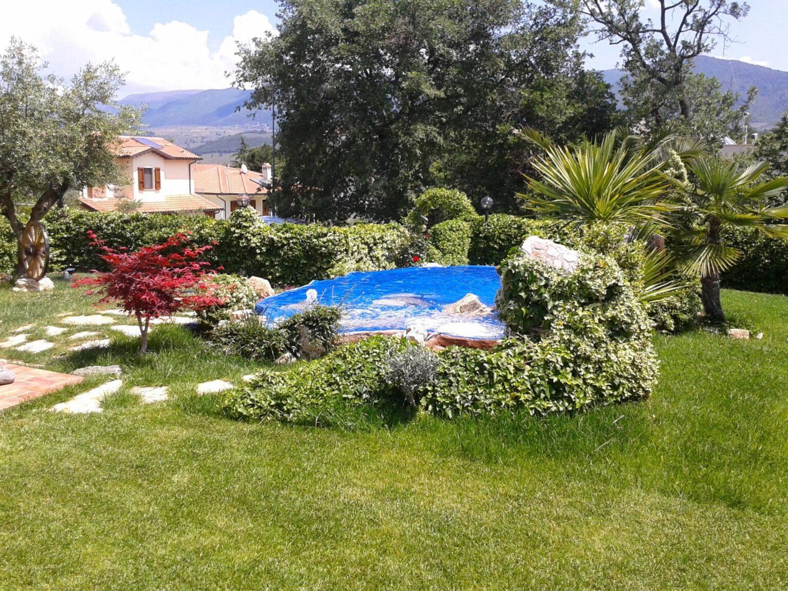 bio fontana in giardino