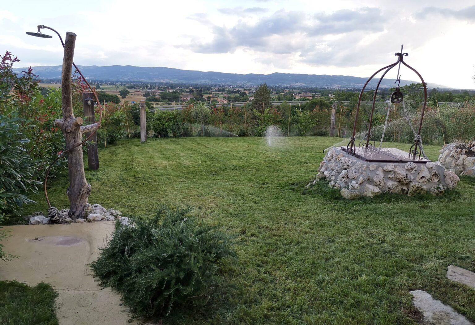 manutenzione giardino esterno